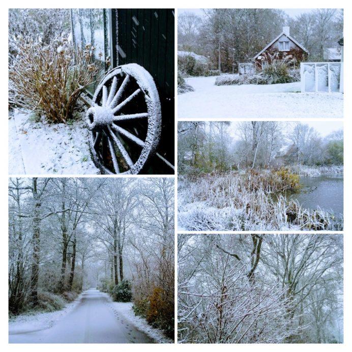 Breezand in de sneeuw op zondag 10 december 2017
